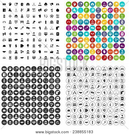 100 Team Icons Set Vector In 4 Variant For Any Web Design Isolated On White