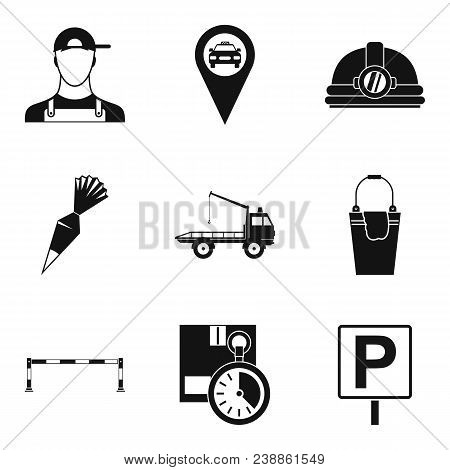 Complexity Icons Set. Simple Set Of 9 Complexity Vector Icons For Web Isolated On White Background