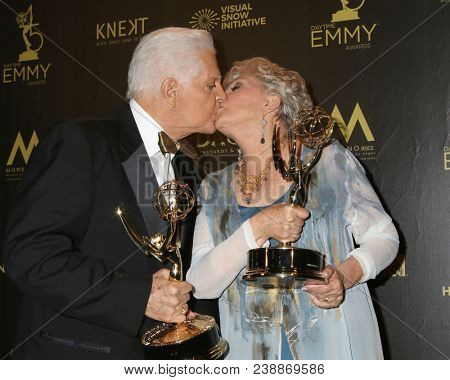 LOS ANGELES - APR 29:  Bill Hayes, Susan Seaforth Hayes at the 45th Daytime Emmy Awards at the Pasadena Civic Auditorium on April 29, 2018 in Pasadena, CA