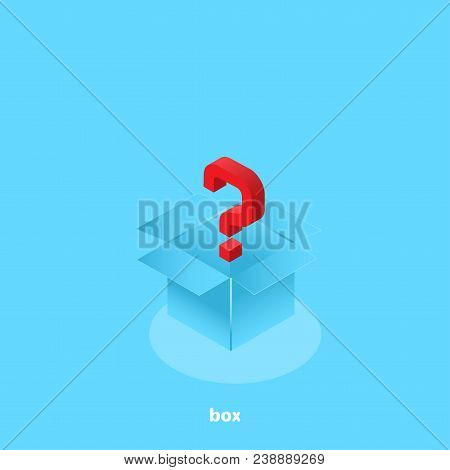 Question Mark In An Open Box, Isometric Image