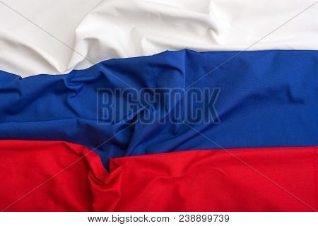 Flag Of Russia. Russia Symbol Design For Background. Black, Yellow And Red Flag. 3d Flag Of Russia.s