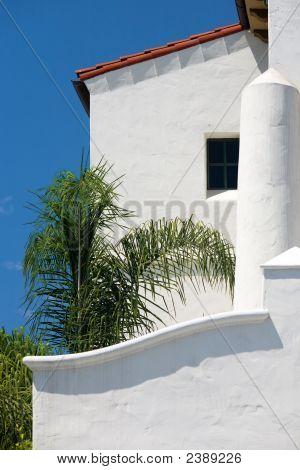 White Stucco Building.