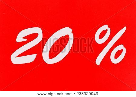 20 Percent Off Shopping Tag Icon In Red
