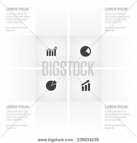 Icon Diagram Set Of Progress, Increase, Pie Bar And Other  Objects. Also Includes Pie, Chart, Increa