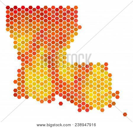 Geographic Map Of Louisiana.Louisiana State Map Vector Photo Free Trial Bigstock