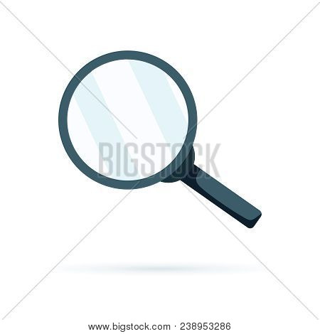 Magnifying Glass Symbol, Find Icon. Search Button, Magnifier Symbol Isolated. Loupe Optical Flat Min