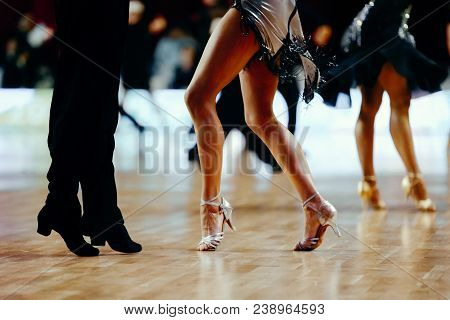 feet pair sport dancers latino dancing competition poster