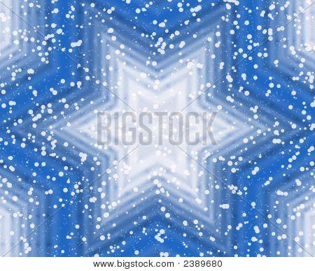 Winter Blue Star Background