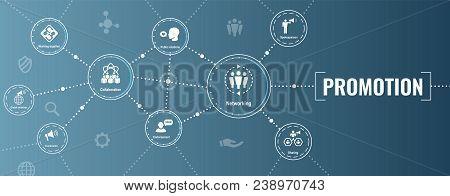 Spokesperson Icon Set - Bullhorn, Coordination, Pr, Public Relations Person Set Web Banner Header