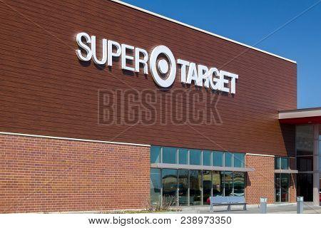 Woodbury, Mn/usa - April 29, 2018: Exterior View Of A Super Target Retail Store. Target Corporation