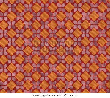 Cloth, Orange Diamond-Checker Pattern