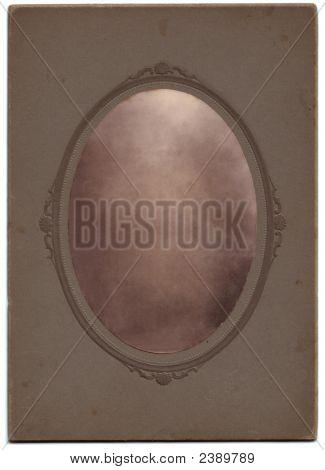 Vintage Oval Portrait Blanked