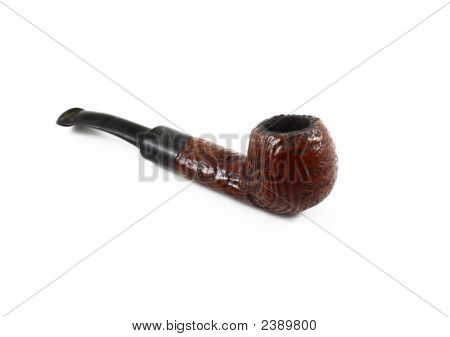 Tobacco Pipe On White Background
