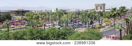 Phoenix, Arizona, May 30. The State Capitol Building On May 30, 2018, In Phoenix, Arizona. A Scene F