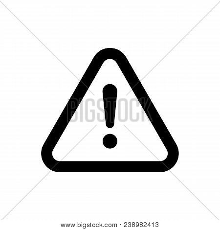 The Attention Icon In Flat Style. Danger Symbol Isolated On White Background. Vector Attention Sign