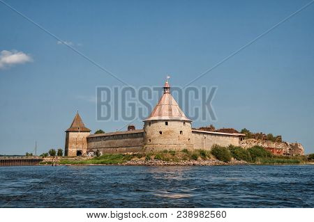 Fortress Oreshek - An Ancient Russian Fortress On Orekhovy Island In Source Of Neva River, Leningrad