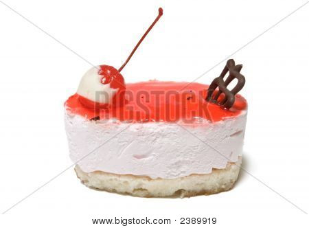 Single Cheesecake With Cherry