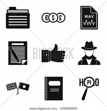Firm Document Icons Set. Simple Set Of 9 Firm Document Vector Icons For Web Isolated On White Backgr
