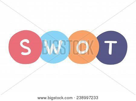 Strenghts, Weaknesses, Opportunities And Threats Vector Business Sign. Swot Handwritten Concept.