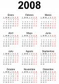 2008 Spanish generic calendar A3 easy cropping for the busy designers who want to create their own designs agendas datebooks. poster