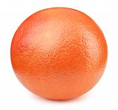 Perfectly retouched whole orange grapefruit fruit isolated on the white background with clipping path. One of the best isolated orange grapefruits that you have seen. poster