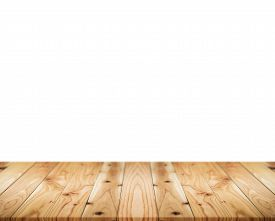 Wood Wooden Table Top On White Background. Wood Wooden Table Isolated. Wood Wooden Table Top. Wood W