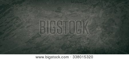 Old Vintage Black Background In Dark Gray Colors With Black Border, Elegant Distressed Vintage Grung