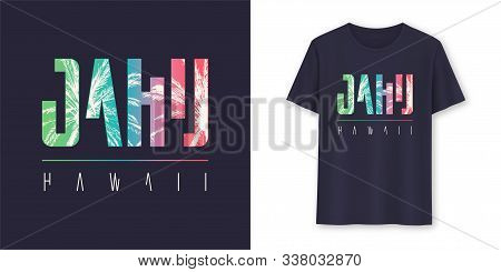 Oahu Hawaii Stylish Graphic T-shirt Vector Design, Poster, Typography