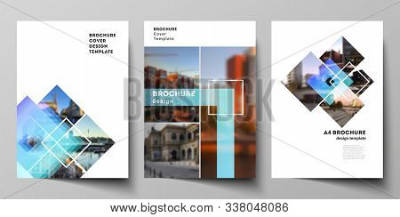 The Vector Layout Of A4 Format Modern Cover Mockups Design Templates For Brochure, Magazine, Flyer,