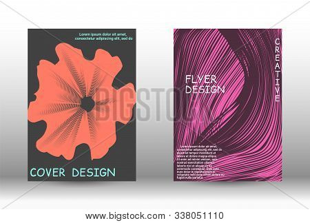 Minimal Vector Coverage. Abstract Cover With The Effect Of Movement And Distortion. Trendy Geometric