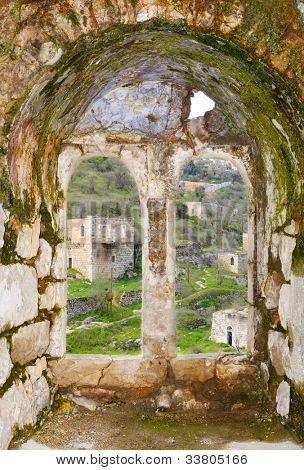 Lifta, an abandoned Arab Village in Jerusalem since the 1948 Israeli War of Independence.