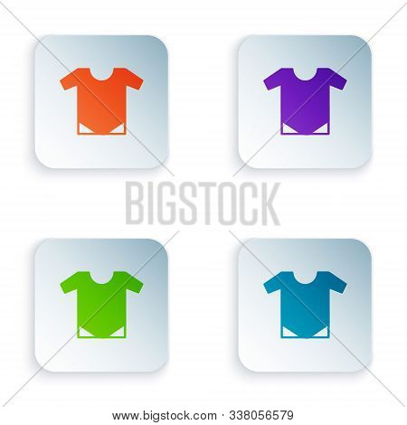 Color Baby Onesie Icon Isolated On White Background. Baby Clothes Symbol. Kid Wear Sign. Set Icons I