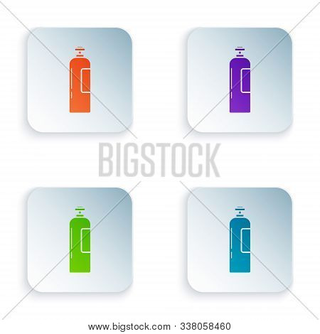 Color Industrial Gas Cylinder Tank For All Inert And Mixed Inert Gases Icon Isolated On White Backgr