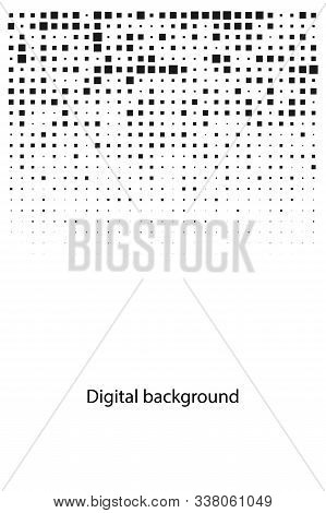 Digital Abstract Cover With Pixels, Geometric Background, Pixels Pattern, Vector Texture