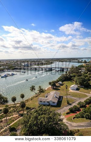 Aerial View Of Loxahatchee River From The Jupiter Inlet Lighthouse
