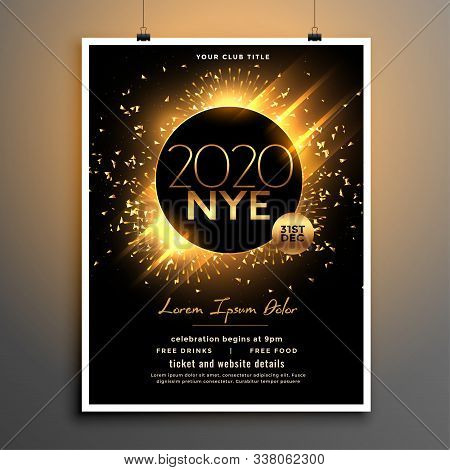 Beautiful New Year Eve Party Flyer Template Design