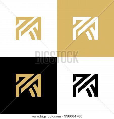 Initial Ra Letter Logo Design Template Elements, Elegant Logotype Design - Vector