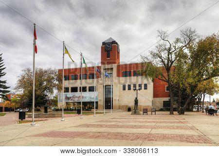 Prince Albert, Saskatchewan/canada - September 27: City Hall In Prince Albert, Saskatchewan, Canada.
