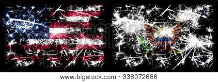 United States Of America Vs Vice President Of The United States New Year Celebration Sparkling Firew