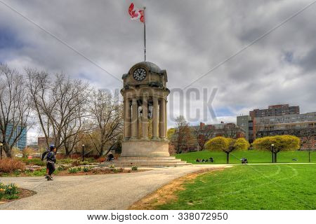Kitchener, Ontario/canada - July 5: The Clock Tower In Victoria Park, [july 5, 2019] In [kitchener]