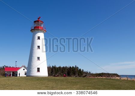 Red And White Point Prim Lighthouse, Pei, Canada