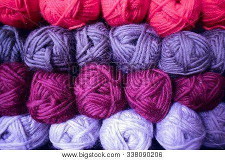 Skeins Of Wool Yarn. Yarn For Knitting.