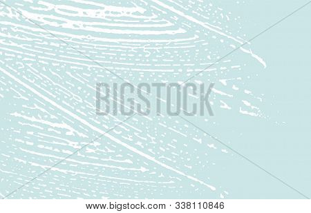 Grunge Texture. Distress Blue Rough Trace. Dazzling Background. Noise Dirty Grunge Texture. Positive