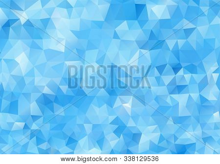 Abstract Light Blue Background. Colorful Polygonal Mosaic Pattern Template. Blue Vector Triangle Geo