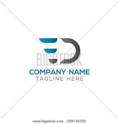 Initial Ed Letter Linked Logo. Creative Letter Ed Modern Business Logo Vector Template. Initial Ed L