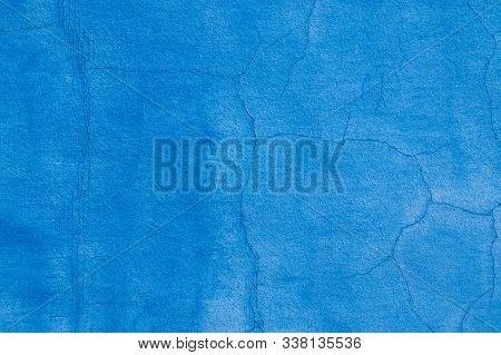 Texture With White And Blue Color. Grunge Old Wall Texture, Concrete Cement Background. Distressed B
