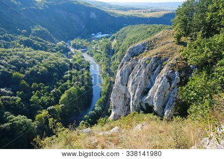 Viewpoint At The End Of A Via Ferrata Route Called Casa Zmeului, Near Vadu Crisului, Bihor County, R