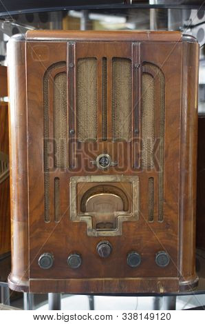 Antique Radio Or Old Radio Classic. Technology Of Yesteryear