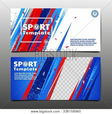 Sport Layout , Template Design, Abstract Background, Dynamic Poster, Brush, Speed Banner, Grunge ,ve
