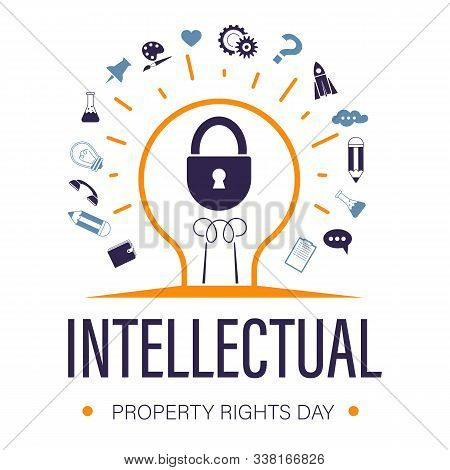 Intellectual Property Rights Day For Trademark Protection Icons With Text